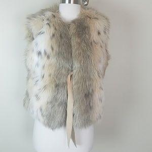 Nine West Faux Fur Vest M